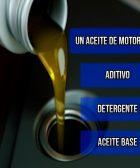 un aceite de motor es aditivos, detergentes y aceite base